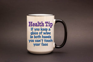 Health Tip: If You Keep a Glass of Wine in Both Hands..