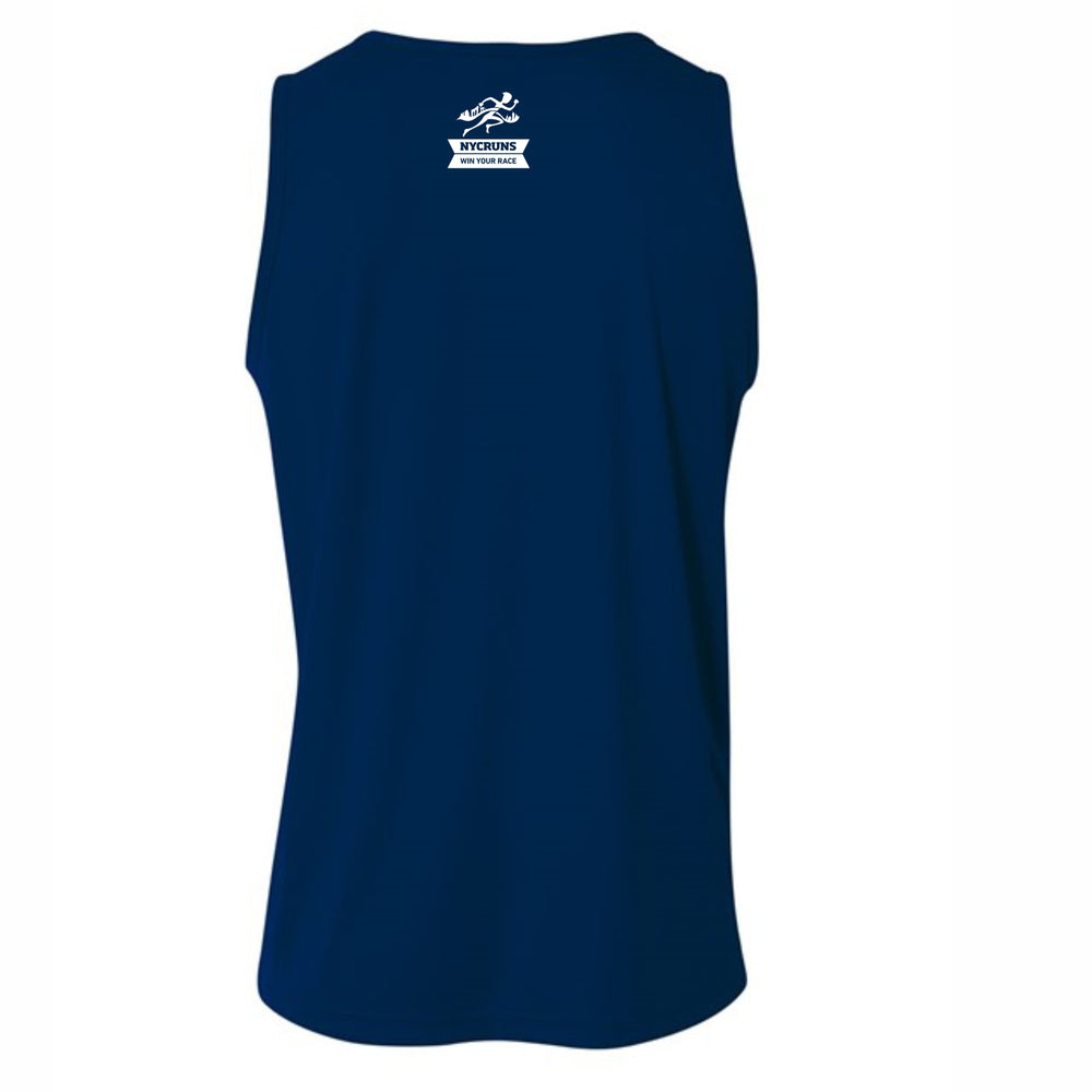 Men's Tech UPF44 Singlet - Navy 'Collegiate Design' - Brooklyn Marathon