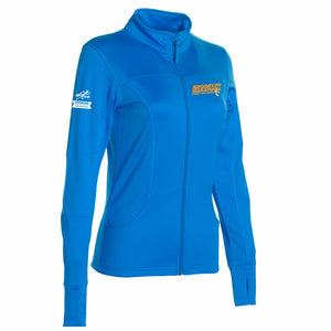 Women's Zip Tech Fleece Ltwt Jacket - Aster Blue 'LCE Design' - Brooklyn Marathon