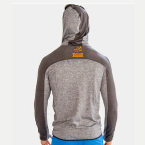 Men's Raglan Lightweight Two-Tone Hoody - Heather Grey 'LCP Design' - Brooklyn Marathon