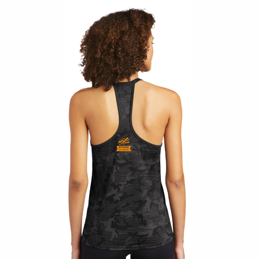 Women's Tech Tonal Tank - Blacktop Camo 'LCP Design' - Brooklyn Marathon