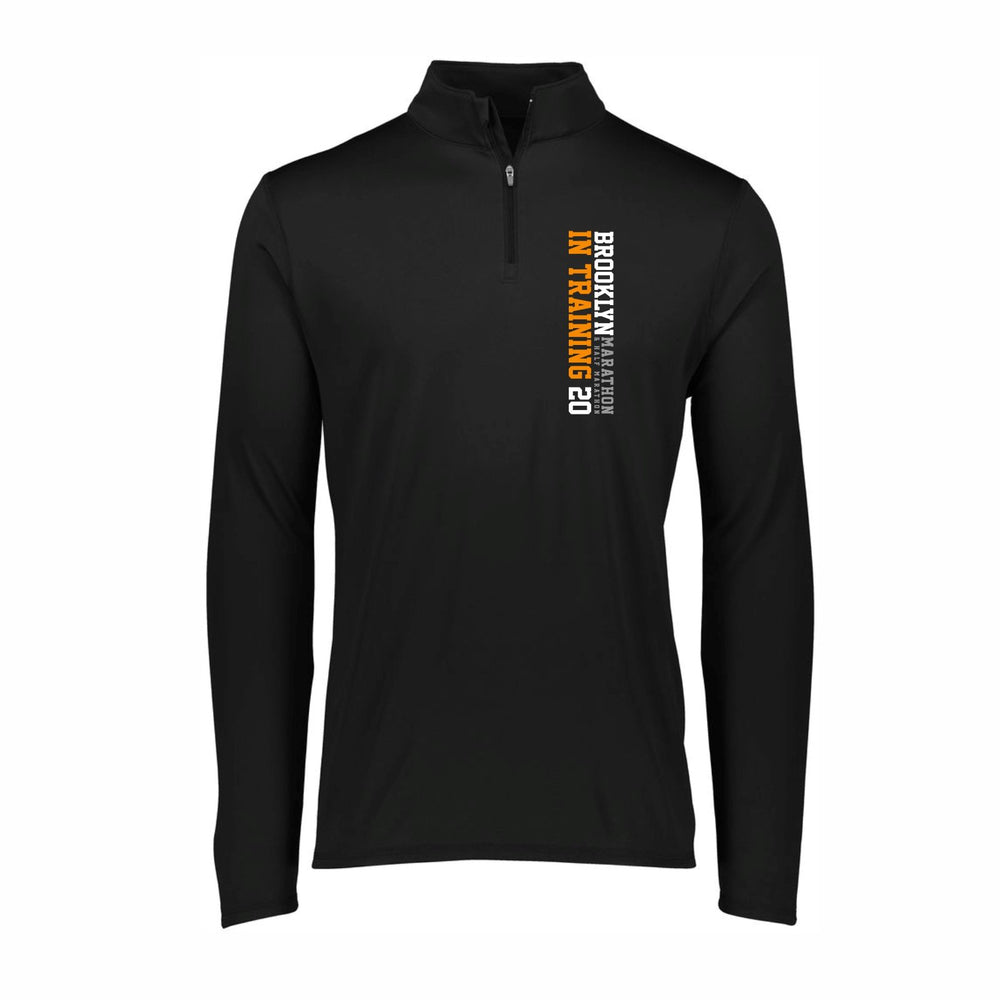 Men's Tech 1/4 Zip - Black 'In Training 2020 Design' - Brooklyn Marathon & Half Marathon