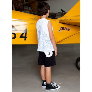 black drop shorts - Tinono Kids