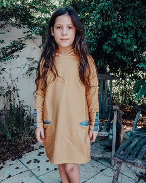 Tinono Kids dress שמלת קפוצ'ון דבש