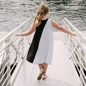 Tinono Kids dress 360 diagonal b&w dress