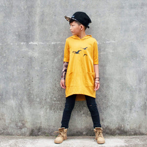 Tinono Kids dress hoodie dress mustard