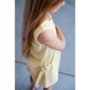 Tinono Kids dress Mini yellow buckle dress