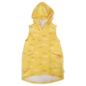 Tinono Kids dress sleeveless yellow hoodie dress