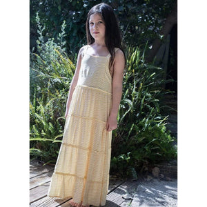 Tinono Kids dress Vintage boho maxi yellow dress