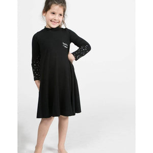 Tinono Kids dress winter 360 twirly black dress