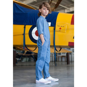 Tinono Kids jumpsuit Voyager denim aviator's jumpsuit
