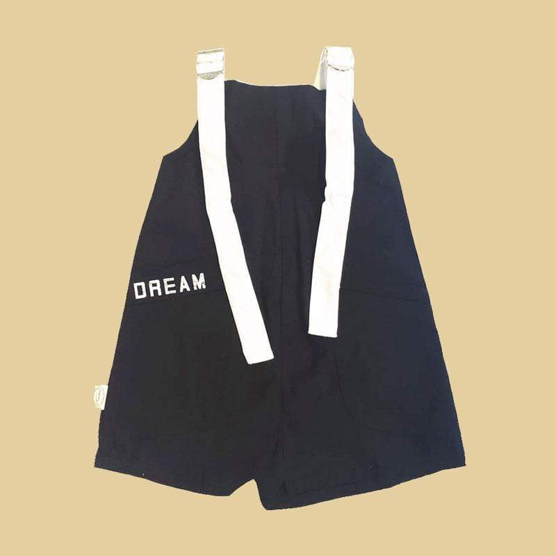 Tinono Kids overall Piper black short overall