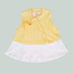 Tinono Kids top Amelia yellow bow tunic
