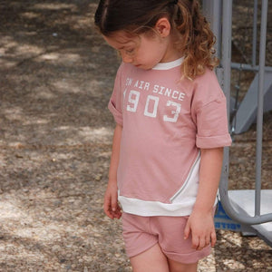 Tinono Kids top Diagonal blush sweat top