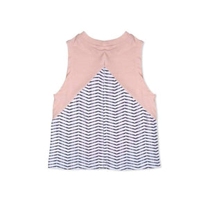 Tinono Kids top Diagonal cut pink top