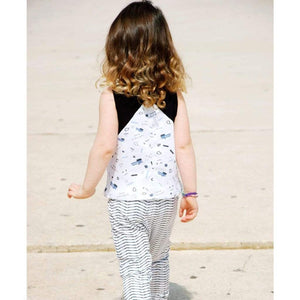 Tinono Kids top Diagonal cut splash top