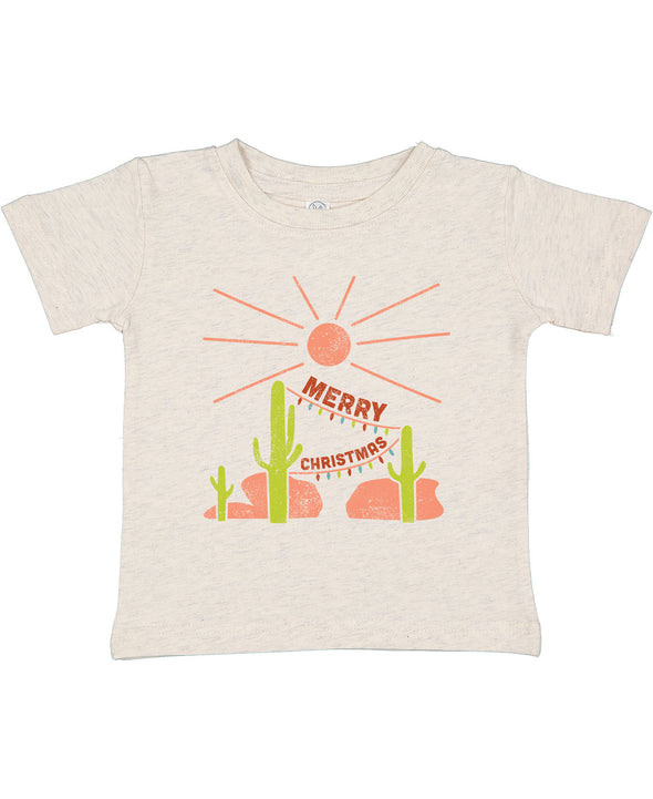 MERRY CHRISTMAS IN THE DESERT TODDLER TEE