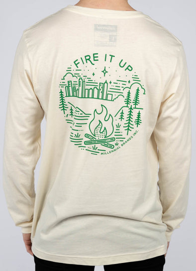 FIRE IT UP LONG SLEEVE TEE @outlet