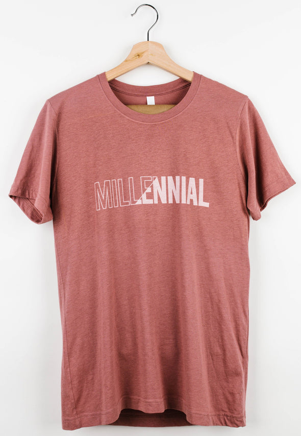 MAUVE DIVIDED TEE @outlet