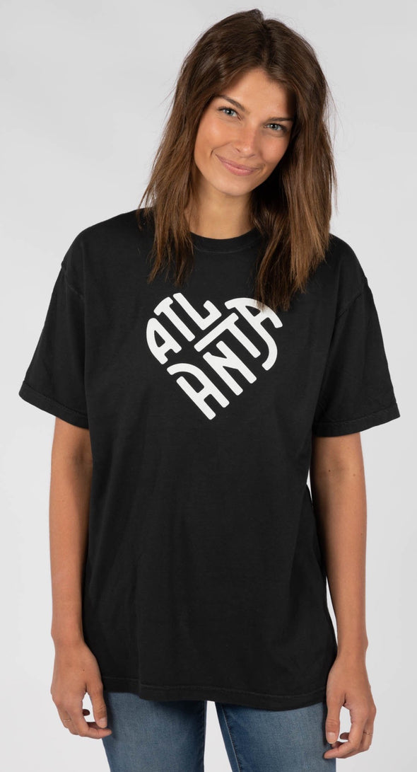 ATLANTA HEART BLACK TEE