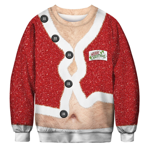 Christmas Funny Hairy Men & Women's Jumper