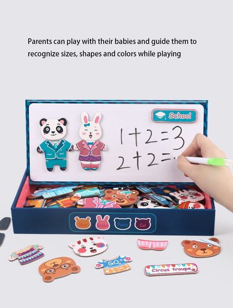 Magnetic Puzzle Dress Changing Dressing Jigsaw