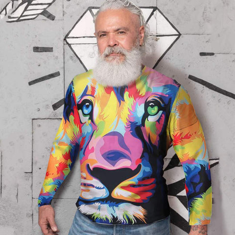 Enjoy colorful lion shirt by uglypartyoutfit