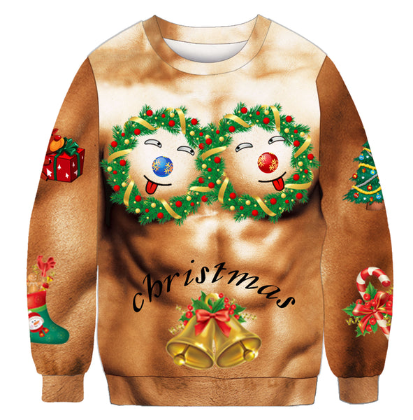 Funny Holiday Muscle Long-Sleeve Shirt