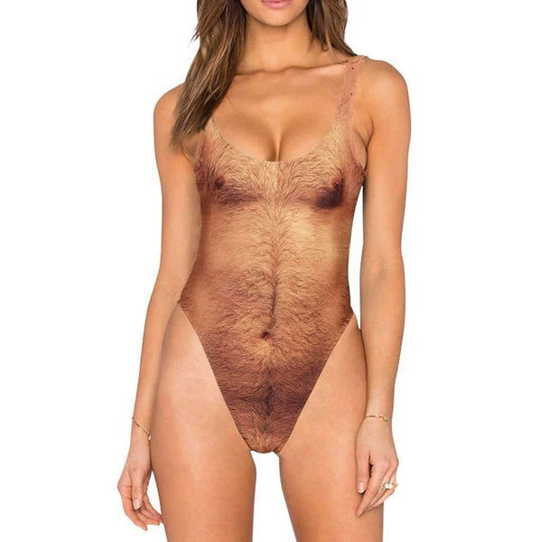 Sexy Dad Bod Hairy Swimsuit 02
