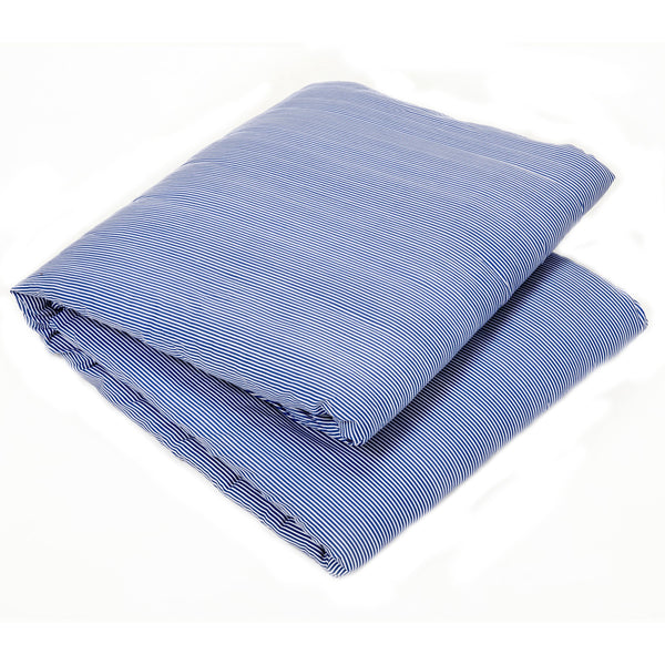 Striped Blue - Organic Cotton Weighted Blanket Cover