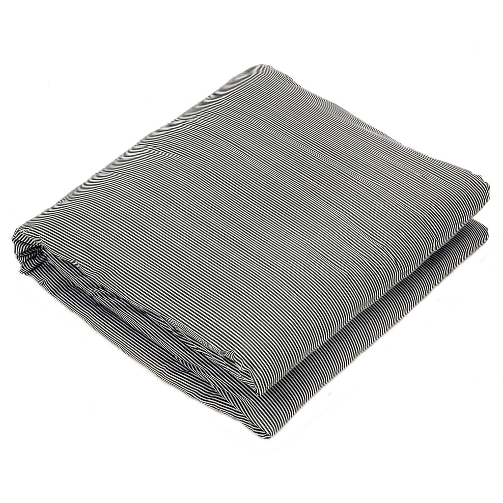 Striped Grey - Organic Cotton Weighted Blanket Cover