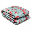 Blue English Roses - Quilt Set