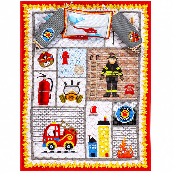 Firemen and Their Tools - Kids Quilt