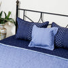 Floral Vine Blue - Bed Cover