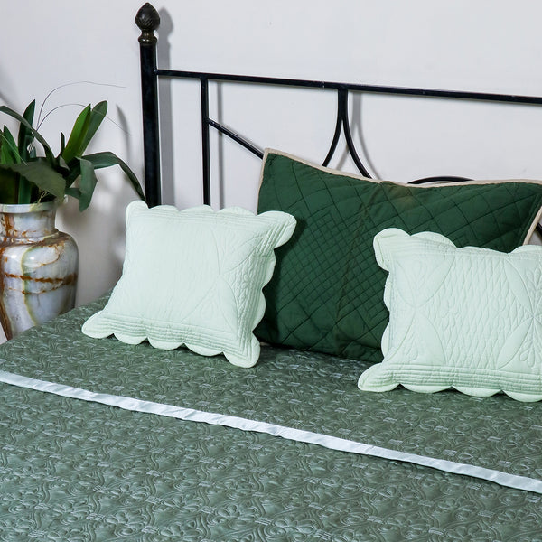 Floral Vine Green - Bed Cover