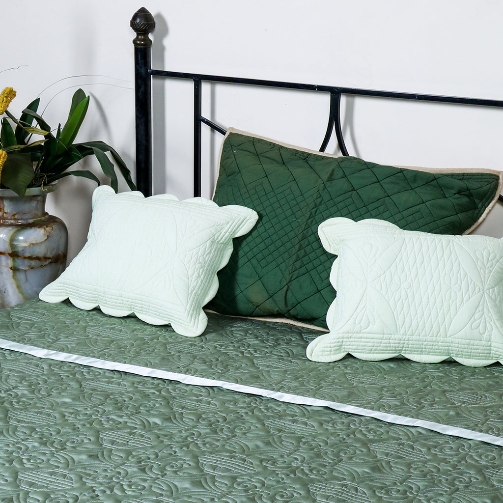 Jasmine Green - Bed Cover
