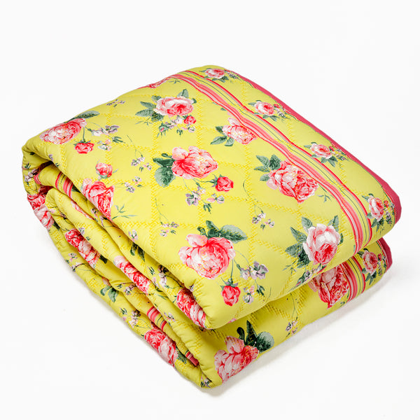 Yellow English Roses - Quilt