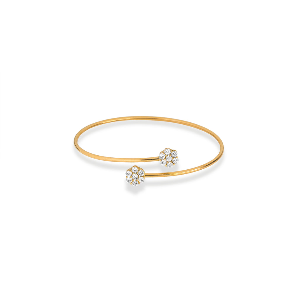 Flower Open Bangle