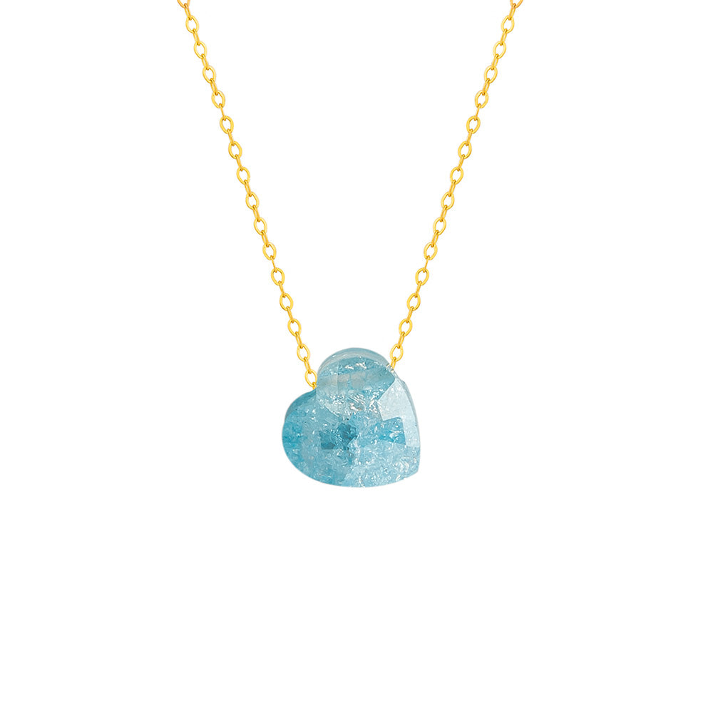 Skye Blue Heart Necklace