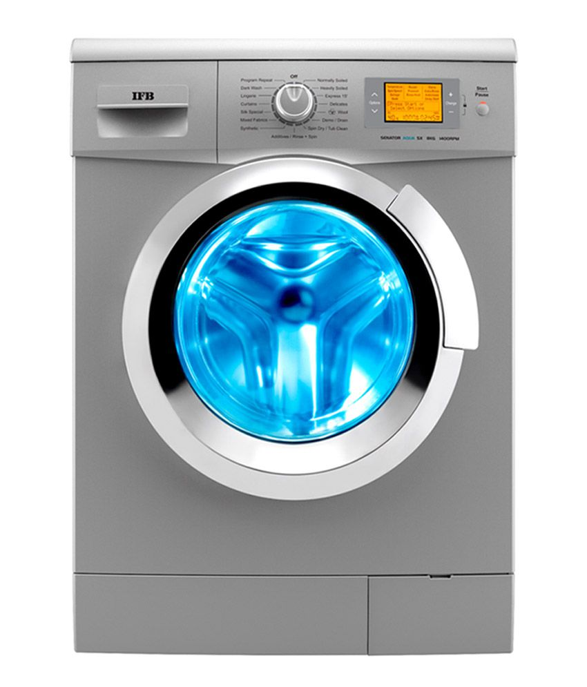 7 kg Fully-Automatic Front Load Washing Machine (Grey/Silver, In-built Heater, Self cleaning technology)