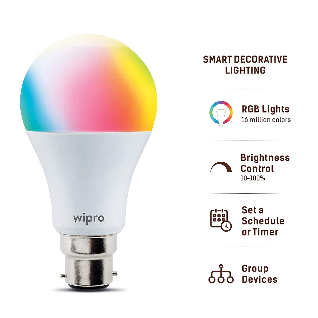 Wipro WiFi Enabled Smart LED Bulb with Wipro Next App