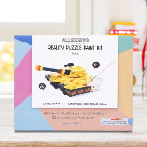 Allessimo Reality Puzzles 3D Painting Puzzle Thunder Tank Stem Toy_2