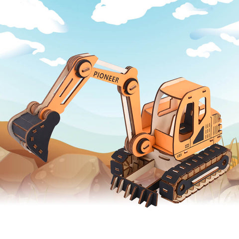 Allessimo Reality Puzzles 3D Puzzle The Digger STEM Toy