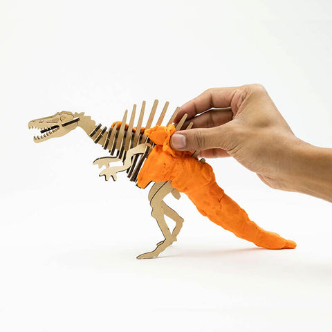 Allessimo Reality Puzzles Spinosaurus Deadly Dino 3D Clay Puzzle_3