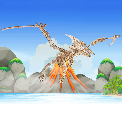 Allessimo Reality Puzzles Prehistoric Pterodactyl 3D Puzzle