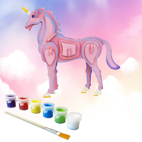Allessimo Reality Puzzles Unicorn Magic 3D Painting Puzzle