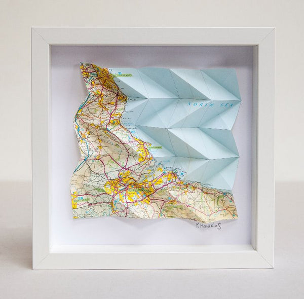 Origami Map - Pick a place anywhere in the world
