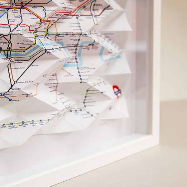 London Underground Tube Origami Map