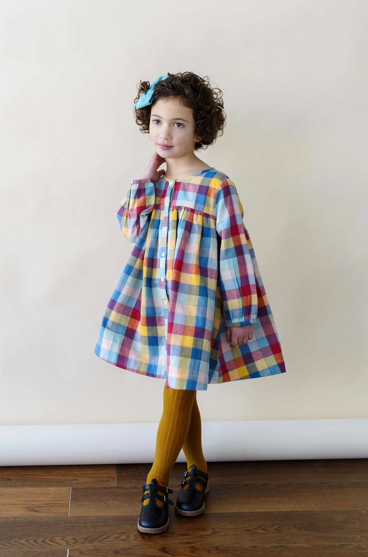 Rainbow Chex Cleo Dress