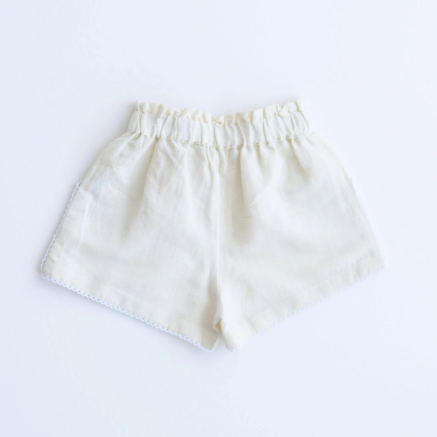 Embroidery Shorts - White
